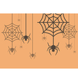 halloween background spider with cobweb vector image vector image