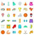 healthy sport icons set cartoon style vector image vector image