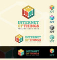 internet things logotype vector image