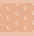 line cosmic seamless pattern moon stars vector image vector image