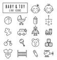 line icons babyamptoy vector image vector image