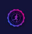 marathon vintage badge with running man vector image
