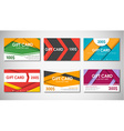 material Gift cards vector image vector image