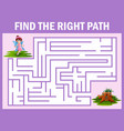 maze game finds the fairy fly away to the home vector image vector image