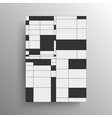 minimalist abstract black and white geometry vector image
