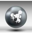 Molecule Icon isolated glossy shiny atom vector image vector image