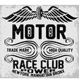 Newyork manhattan bronx motorcycle typography t-sh vector image vector image