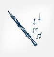 oboe sketch isolated design element vector image vector image