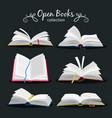 open books new open book set with bookmark vector image vector image