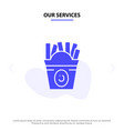 our services fries fast food food usa solid glyph vector image vector image