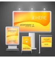 Outdoor advertising design vector image