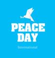 peace day international origami dove bird i vector image vector image