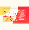 pizza concept banner vector image vector image