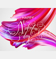 red hand drawn smear paint love lettering vector image vector image