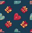 Seamless pattern merry christmas toy
