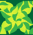 seamless pattern of leaves arranged randomly on vector image vector image