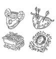set cartoon different magic books concepts vector image vector image
