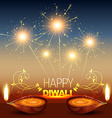 shiny diwali background vector image vector image