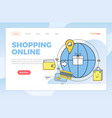 shopping online worldwide orders and buyers web vector image
