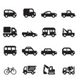 silhouette car icons set vector image vector image