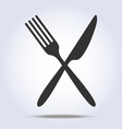 simple fork and knife icon vector image vector image