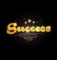 success star golden color word text logo icon vector image vector image