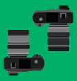top view of digital camera vector image