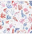 underwater life hand drawn seamless pattern vector image