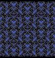 vintage floral seamless pattern dark blue 3d vector image