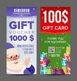 voucher coupon template vertical leaflet vector image vector image