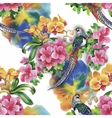 Wild Pheasant animals birds in watercolor floral