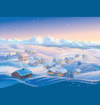 winter landscape with hills and montane forests vector image