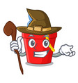 witch picture beach bucket on shovel cartoon vector image