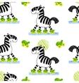 Zebra roller skating seamless pattern vector image vector image