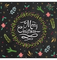 Merry Christmas Holiday Greeting vector image