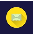Flat envelope icon vector image