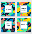 a collection colorful floral templates vector image