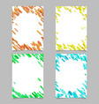 abstract brochure template set with colored vector image vector image