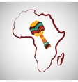 Africa design map icon Flat vector image