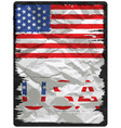 american flag poster design vector image vector image