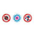 antiviral antibacterial coronavirus formula icons vector image