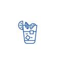aperitif beverage line icon concept