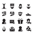 award for businessman icons set vector image