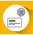 bank concept safe cards credit and debit money vector image