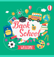 banner welcome back to school vector image