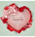 Beautiful vintage invitation with rose petals vector image vector image