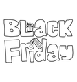 Black Friday icon outline style vector image vector image