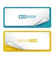 blank tags template vector image