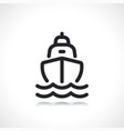 boat or cruise line icon vector image vector image