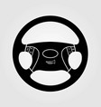 car steering wheel isolated on white background vector image